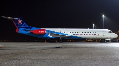 Photo ID 206219 by Thomas Ziegler - Aviation-Media. Slovakia Government Fokker 100 F 28 0100, OM BYC