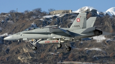 Photo ID 206369 by Richard de Groot. Switzerland Air Force McDonnell Douglas F A 18C Hornet, J 5025