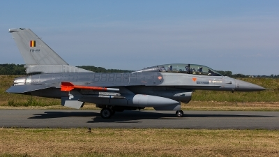 Photo ID 206385 by Thomas Ziegler - Aviation-Media. Belgium Air Force General Dynamics F 16BM Fighting Falcon, FB 22