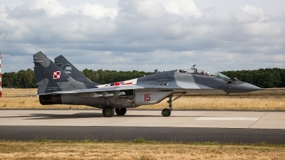 Photo ID 206509 by Thomas Ziegler - Aviation-Media. Poland Air Force Mikoyan Gurevich MiG 29UB 9 51, 15