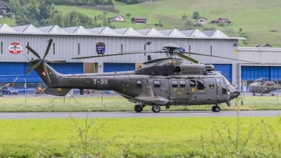 Photo ID 206654 by Martin Thoeni - Powerplanes. Switzerland Air Force Aerospatiale AS 332M1 Super Puma, T 311