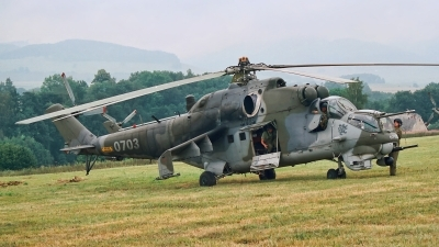 Photo ID 207260 by Radim Spalek. Czech Republic Air Force Mil Mi 24V, 0703