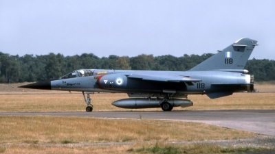 Photo ID 207529 by Marc van Zon. Greece Air Force Dassault Mirage F1CG, 118