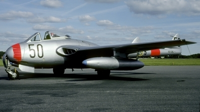 Photo ID 207951 by Joop de Groot. Private Norrkopings Veteranflyg De Havilland DH 100 Vampire FB 6, SE DXS