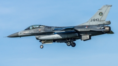 Photo ID 208590 by John. Netherlands Air Force General Dynamics F 16AM Fighting Falcon, J 643