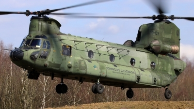 Photo ID 208790 by Mark Broekhans. Netherlands Air Force Boeing Vertol CH 47D Chinook, D 103