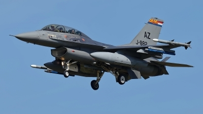 Photo ID 208814 by Rainer Mueller. Netherlands Air Force General Dynamics F 16B Fighting Falcon, J 882