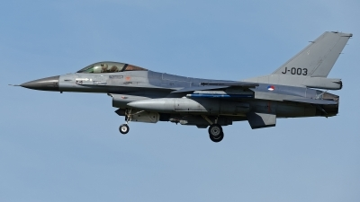 Photo ID 208850 by Rainer Mueller. Netherlands Air Force General Dynamics F 16AM Fighting Falcon, J 003
