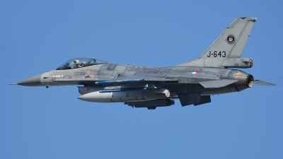 Photo ID 209157 by Rainer Mueller. Netherlands Air Force General Dynamics F 16AM Fighting Falcon, J 643
