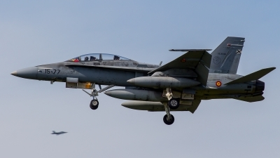 Photo ID 209131 by Adrian Stürmer. Spain Air Force McDonnell Douglas CE 15 Hornet EF 18B, CE 15 09