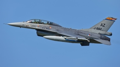Photo ID 209224 by Rainer Mueller. Netherlands Air Force General Dynamics F 16B Fighting Falcon, J 882