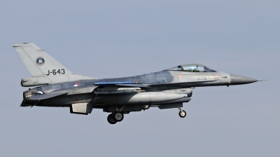 Photo ID 209304 by Milos Ruza. Netherlands Air Force General Dynamics F 16AM Fighting Falcon, J 643