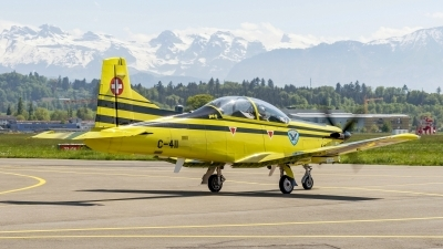Photo ID 209747 by Martin Thoeni - Powerplanes. Switzerland Air Force Pilatus PC 9, C 411