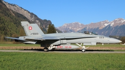 Photo ID 209586 by Ludwig Isch. Switzerland Air Force McDonnell Douglas F A 18C Hornet, J 5023