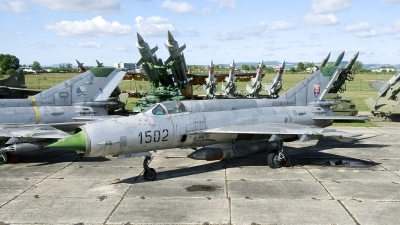 Photo ID 209654 by Joop de Groot. Slovakia Air Force Mikoyan Gurevich MiG 21R, 1502