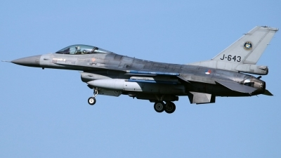 Photo ID 209943 by Stephan Sarich. Netherlands Air Force General Dynamics F 16AM Fighting Falcon, J 643