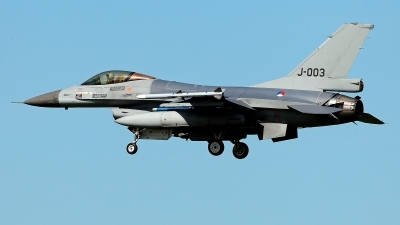 Photo ID 209926 by Carl Brent. Netherlands Air Force General Dynamics F 16AM Fighting Falcon, J 003