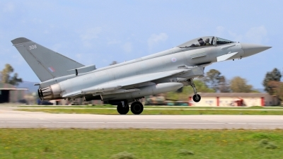 Photo ID 210636 by Stamatis Alipasalis. UK Air Force Eurofighter Typhoon FGR4, ZK308