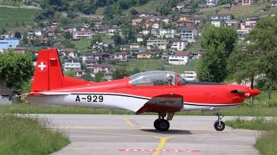 Photo ID 210810 by Ludwig Isch. Switzerland Air Force Pilatus NCPC 7 Turbo Trainer, A 929