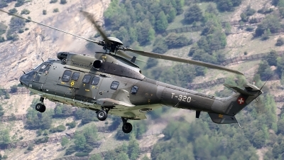 Photo ID 210866 by Ludwig Isch. Switzerland Air Force Aerospatiale AS 332M1 Super Puma, T 320