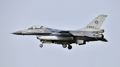 Photo ID 210949 by Frank Kloppenburg. Netherlands Air Force General Dynamics F 16AM Fighting Falcon, J 643