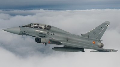 Photo ID 211435 by F. Javier Sánchez Gómez. Spain Air Force Eurofighter CE 16 Typhoon EF 2000T, CE 16 05