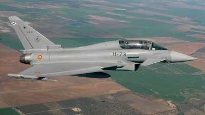 Photo ID 211258 by F. Javier Sánchez Gómez. Spain Air Force Eurofighter CE 16 Typhoon EF 2000T, CE 16 04