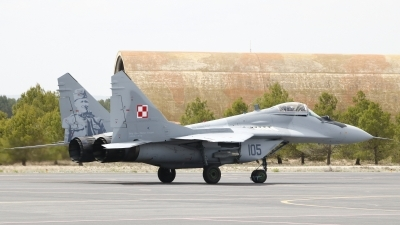 Photo ID 211262 by Montserrat Pin. Poland Air Force Mikoyan Gurevich MiG 29A 9 12A, 105