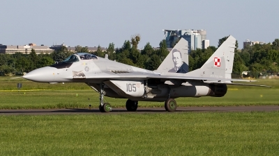Photo ID 211304 by Alfred Koning. Poland Air Force Mikoyan Gurevich MiG 29A 9 12A, 105