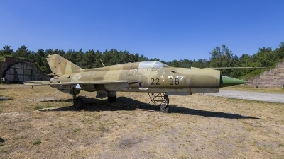 Photo ID 211892 by Jan Philipp. Germany Air Force Mikoyan Gurevich MiG 21bis, 22 38