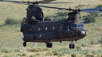 Photo ID 212047 by Carl Brent. Spain Army Boeing Vertol CH 47D Chinook, HT 17 18