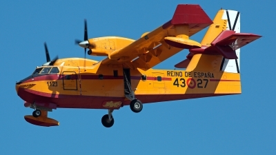 Photo ID 212228 by Carl Brent. Spain Air Force Canadair CL 215T, UD 13 27