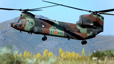 Photo ID 212349 by Carl Brent. Spain Army Boeing Vertol CH 47D Chinook, HT 17 05
