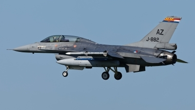 Photo ID 212419 by Rainer Mueller. Netherlands Air Force General Dynamics F 16BM Fighting Falcon, J 882