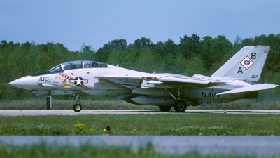 Photo ID 212622 by David F. Brown. USA Navy Grumman F 14A Tomcat, 162704