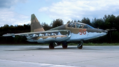 Photo ID 212781 by Rainer Mueller. Russia Air Force Sukhoi Su 25UB,