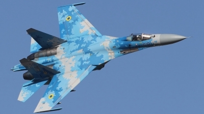 Photo ID 212808 by Paul Newbold. Ukraine Air Force Sukhoi Su 27P1M,