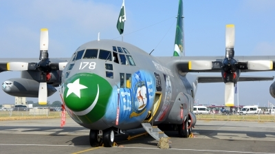 Photo ID 212952 by Alberto Gonzalez. Pakistan Air Force Lockheed C 130E Hercules L 382, 4178