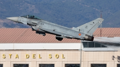 Photo ID 213472 by F. Javier Sánchez Gómez. Spain Air Force Eurofighter EF 2000 Typhoon S, C 16 24