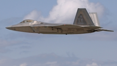 Photo ID 213500 by David F. Brown. USA Air Force Lockheed Martin F 22A Raptor, 05 4093