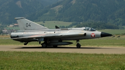 Photo ID 24964 by Radim Spalek. Austria Air Force Saab J35Oe MkII Draken, 04