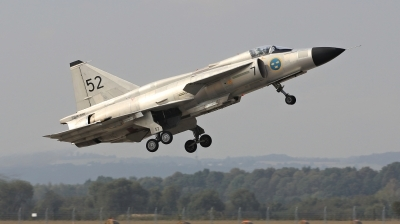Photo ID 214180 by Milos Ruza. Private Swedish Air Force Historic Flight Saab AJS37 Viggen, SE DXN
