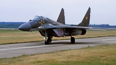 Photo ID 214455 by Gerrit Kok Collection. East Germany Air Force Mikoyan Gurevich MiG 29, 745
