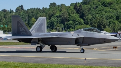 Photo ID 214735 by Paul Varner. USA Air Force Lockheed Martin F 22A Raptor, 10 4193