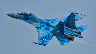 Photo ID 214774 by Radim Spalek. Ukraine Air Force Sukhoi Su 27UB1M, B 1831M1
