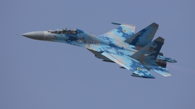 Photo ID 214863 by Lars Kitschke. Ukraine Air Force Sukhoi Su 27UB1M, B 1831M1