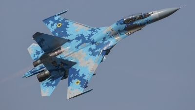 Photo ID 214862 by Lars Kitschke. Ukraine Air Force Sukhoi Su 27UB1M, B 1831M1