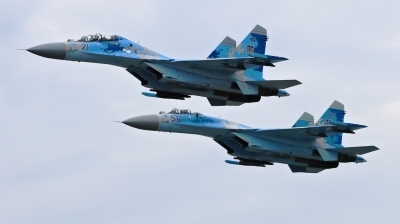 Photo ID 215180 by Milos Ruza. Ukraine Air Force Sukhoi Su 27UB1M, B 1831M1