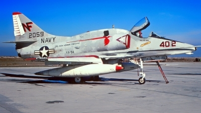 Photo ID 215250 by Gerrit Kok Collection. USA Navy McDonnell Douglas A 4E Skyhawk, 152059