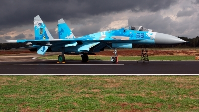 Photo ID 215400 by Carl Brent. Ukraine Air Force Sukhoi Su 27P1M,